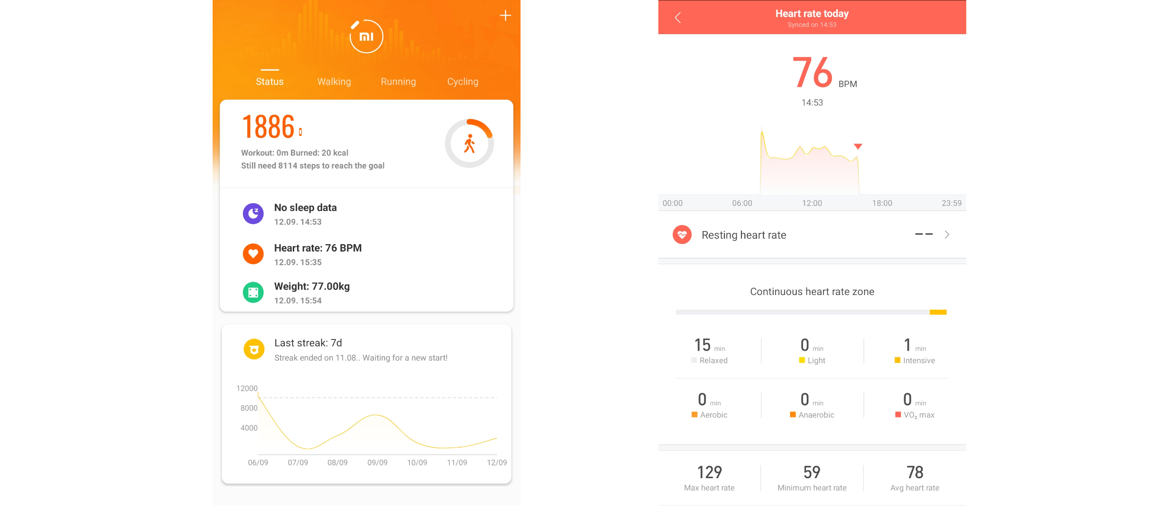 Mi-fit-dashboard-screen